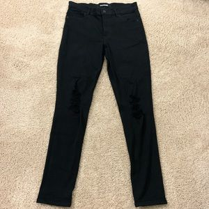 Express Black Ripped High Rise Jeans/leggings